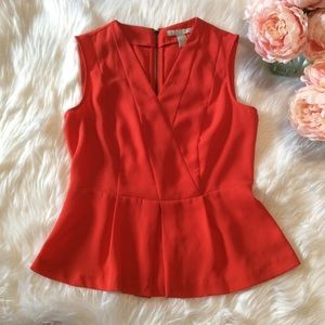 Banana Republic Bright Red Peplum Top